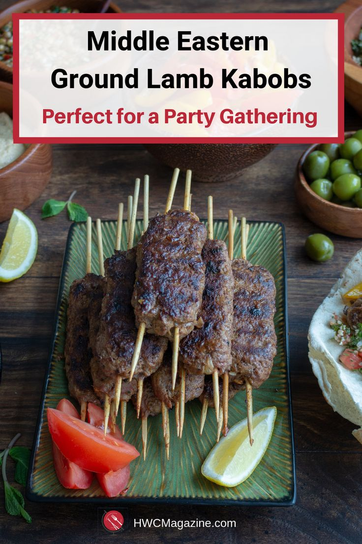Middle Eastern Ground Lamb Kabobs