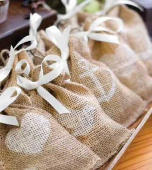 Themed Burlap Favor Bags by Beau-coup