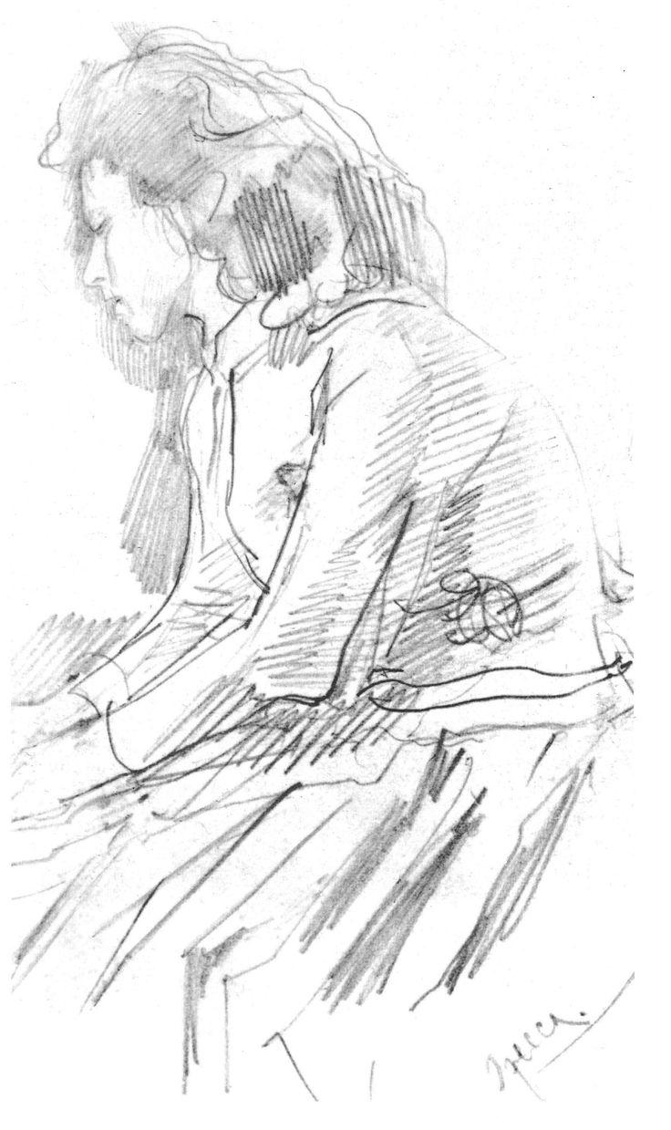 Valentin Serov (1865 –  1911) - Portrait of Olga Feodorovna Trubnikova, 1885