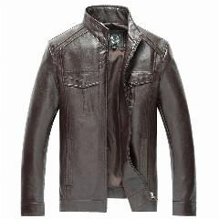 [ 34% OFF ] Fashion Autumn Men's Leather Jackets Haining Jaqueta De Couro Masculina Pu Faux Leather Male Leather Jacket Men 5323F
