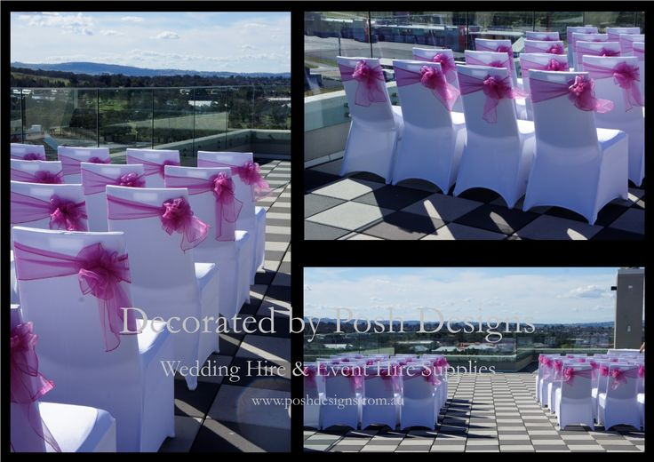 #Whitelycrachaircovers #Pinkorganzasashes - #wedding #theming available at #poshdesignsweddings - #sydneyweddings #southcoastweddings #wollongongweddings #canberraweddings #southernhighlandsweddings #campbelltownweddings #penrithweddings #bathurstweddings #illawarraweddings  All stock owned by Posh Designs Wedding & Event Supplies – lisa@poshdesigns.com.au or visit www.poshdesigns.com.au or www.facebook.com/.poshdesigns.com.au #Wedding #reception #decorations #Outdoor #ceremony decorations