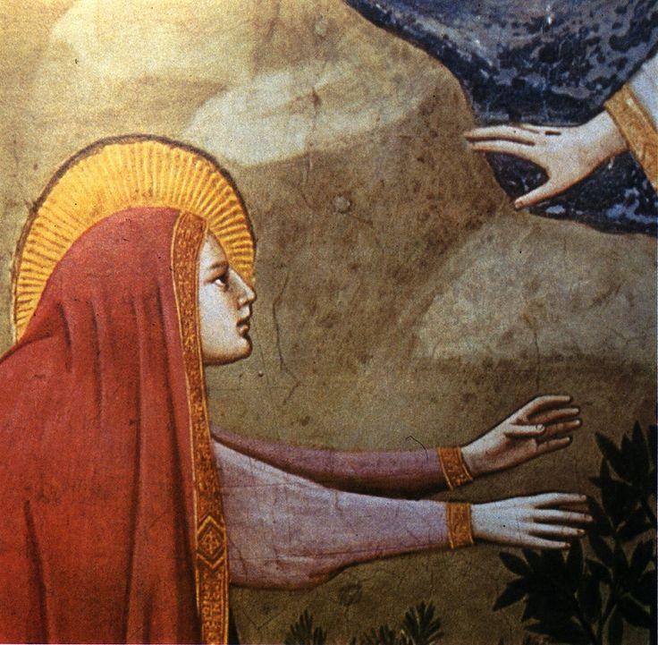 The Resurrection (Noli me tangere)  c.1305 , fresco  by Giotto di Bondone (1267-1337) Location : Scrovegni Chapel, Padua.