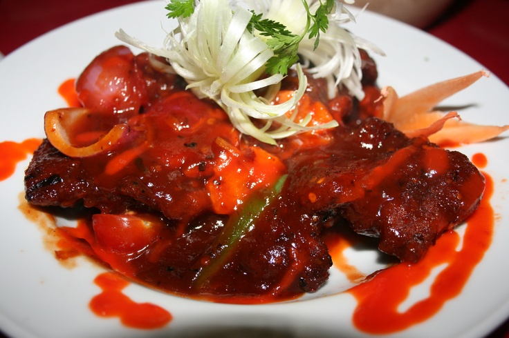 Fire Cracker Chicken at Monsoon Poon
