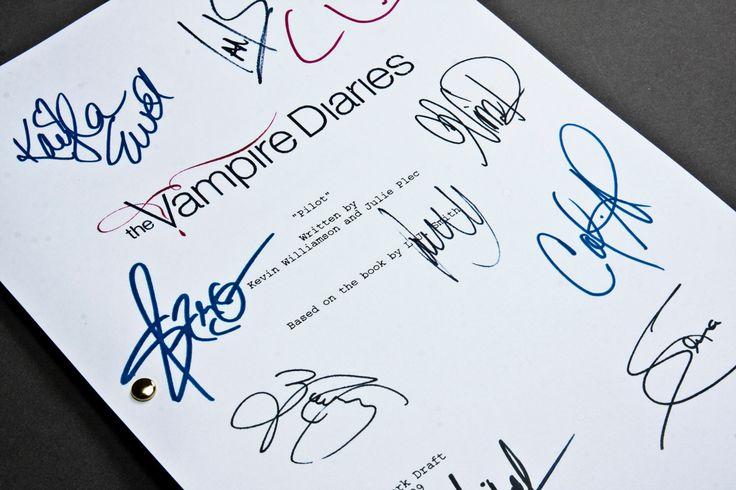 The Vampire Diaries Pilot Tv Script Screenplay With Signatures Etsy Vampire Diaries Tv Scripts Vampire