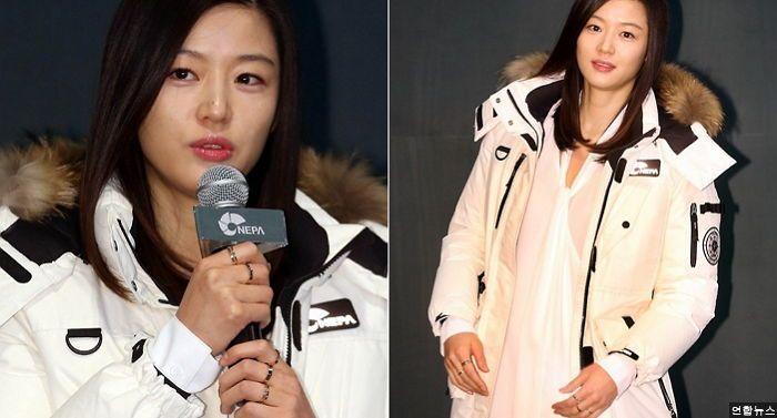 캠페인 행사에 모습 드러낸 '임신 6개월차' 전지현 (사진)