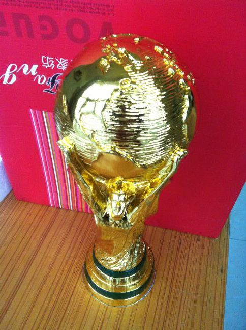 original size 36cm brazil  world trophy cup  1:1 to real WM-POKAL REPLICA 2014 brazil world cup best soccer fan gift