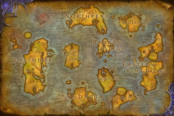 Battle For Azeroth World Map Azeroth map in 4 5 expansions. | Azeroth map, Fantasy world map