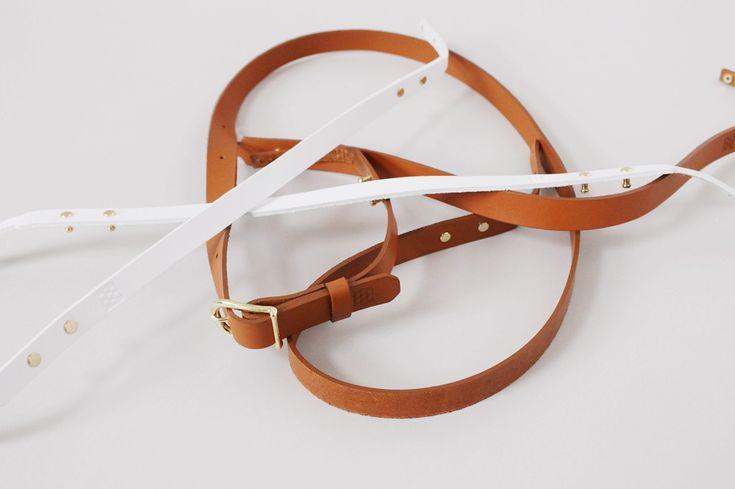 組色籠の革ベルト・kumiiro-kago