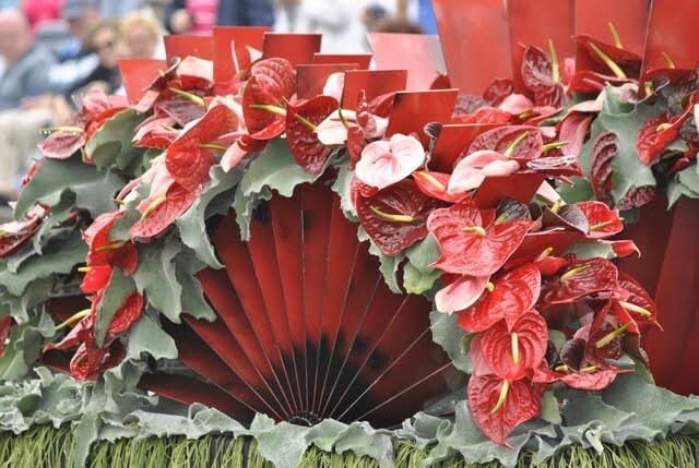 Een waaier van #anthuruims rood tinten. www.rozemarijnleiden.nl