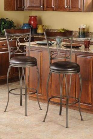 Metal Scroll Bar Stool #kirklands #creativekitchen