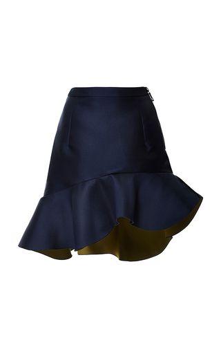 Preen by Thornton BREGAZZI   Navy Peplum Curzon Skirt