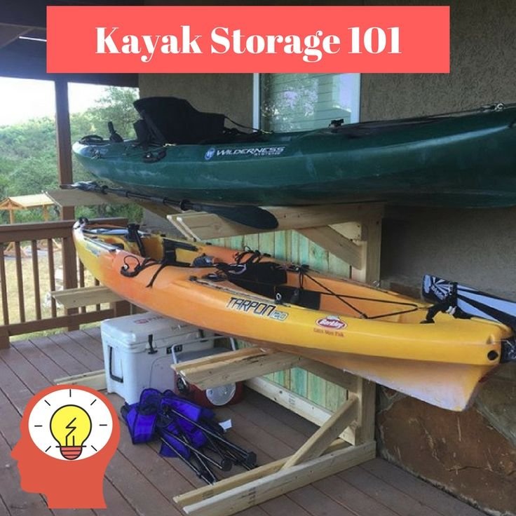 Can you store a kayak outside where is a safe place to