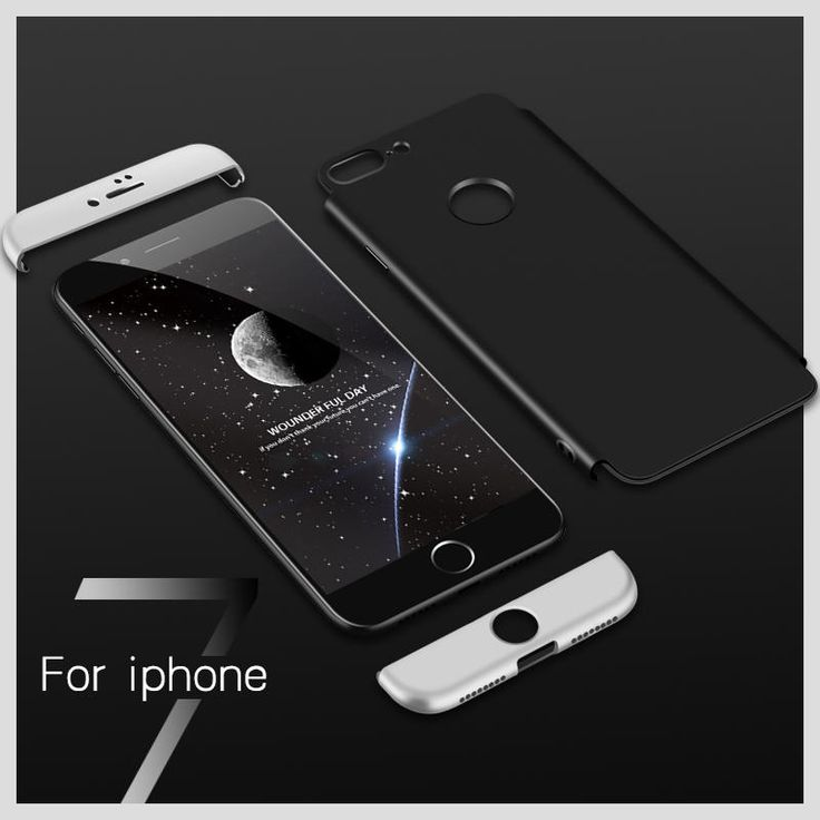 Bakeey™ 3 in 1 Double Dip 360° Full Protection Hard PC Cover Case for iPhone 7Plus/8Plus Sale - Banggood.com