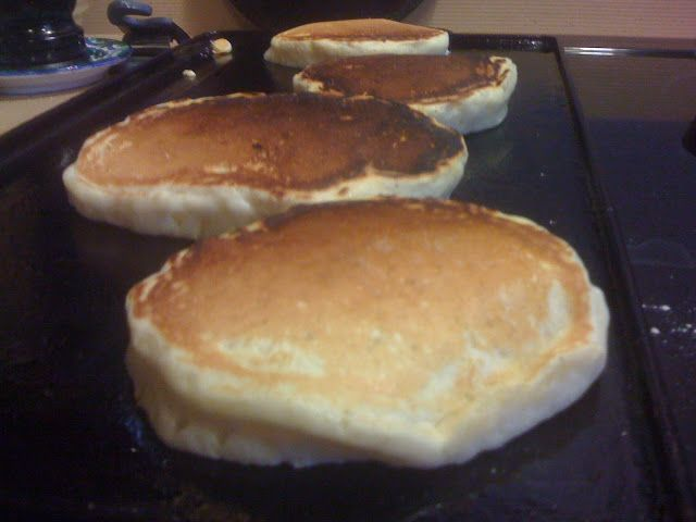 There are two secrets to perfect cast iron griddle pancakes: 1) keep the heat low, and 2) make sure the griddle surface is shiny with oil e...