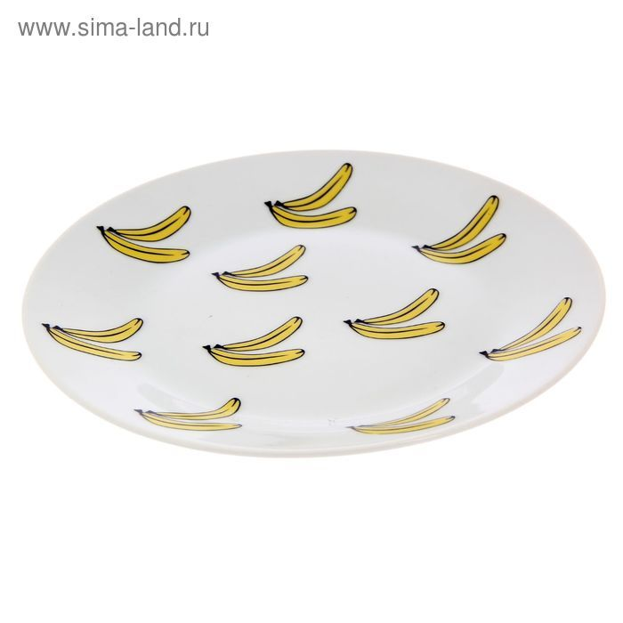 """Тарелка 20 см """"Бананы"""" с бортами"""