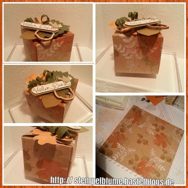 Herbst - Verpackung, Stanz und Falzbrett für Geschenkschachteln, Stampin'UP! http:// stempelblume.bastelblogs.de