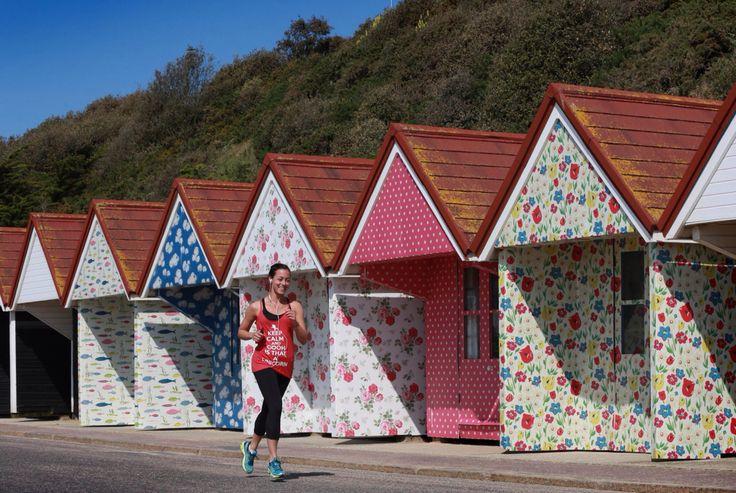 Cath Kidson colourful beach huts #prstunt