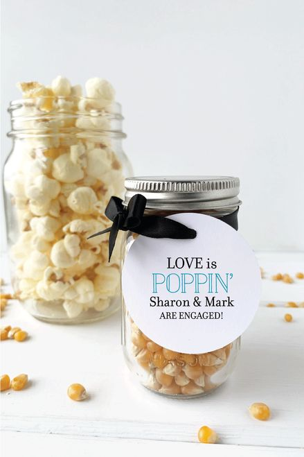 Our Love is Poppin Engagement Party Favor Tags – Maria and Jesus' Wedding Shower Ideas