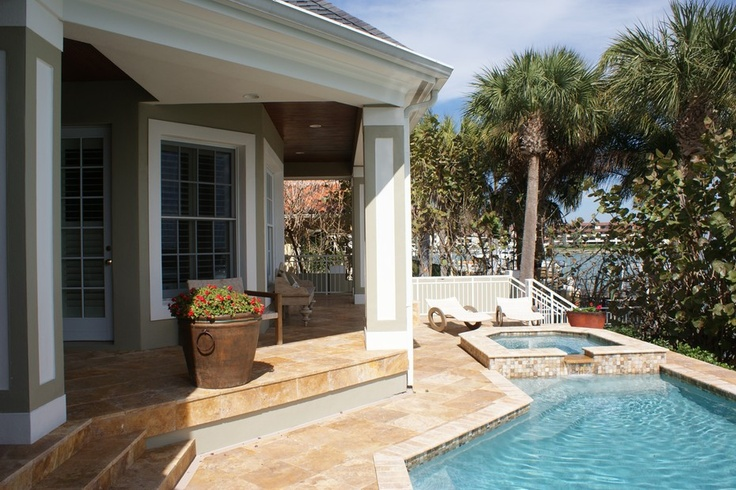 Small Pool Beside The Patio Of This Waterfront Home In Florida. Discovered  On Www.Porch.com | Refreshing Pools | Pinterest | Small Pools, Porch And  Patios
