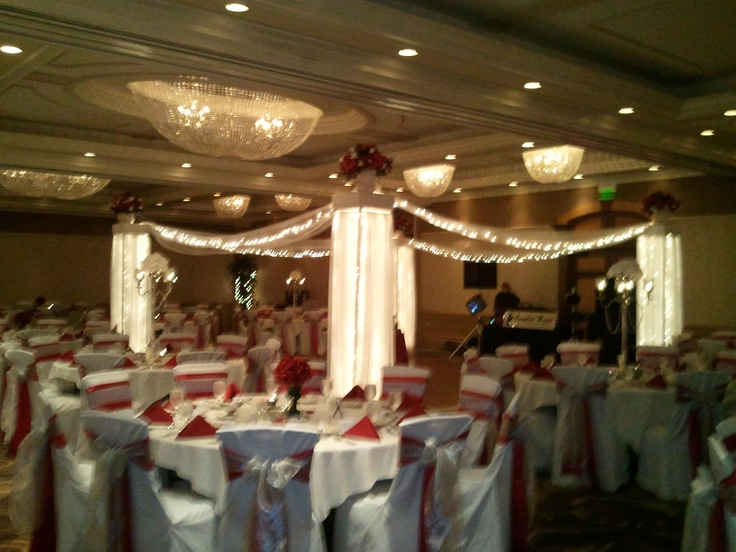Lit canopy over dance floor ~ creative ideas by Weddings By Nicole
