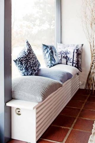 Stylish Radiator Cover Ideas For Summer | Domino -- What was once an unsightly…