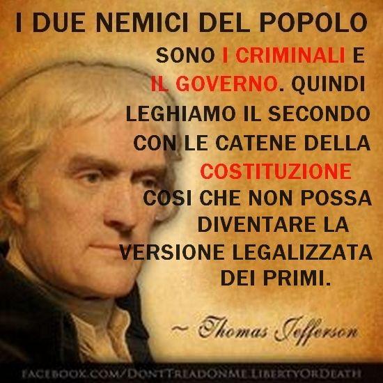 Citazione di Thomas Jefferson sulla costituzione e perchè é necessaria.