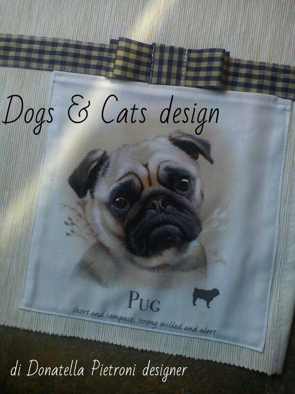1415 - Particolare della tovaglietta. Dogs & Cats design di Donatella Pietroni designer
