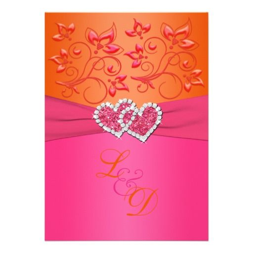 wedding invite w orange pink and could add turquoise!!!