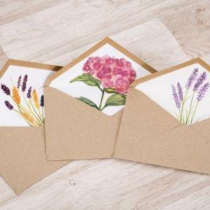 modelos de sobres kraft para de boda de flores para tu invitacin de