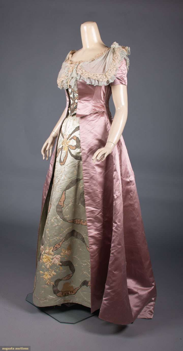 1880 1890 One Pink One Lilac Ballgown Pink Ny Label 1892 Mauve 1890s Historical Dresses Pink Ball Dresses Ball Dresses [ 1381 x 720 Pixel ]