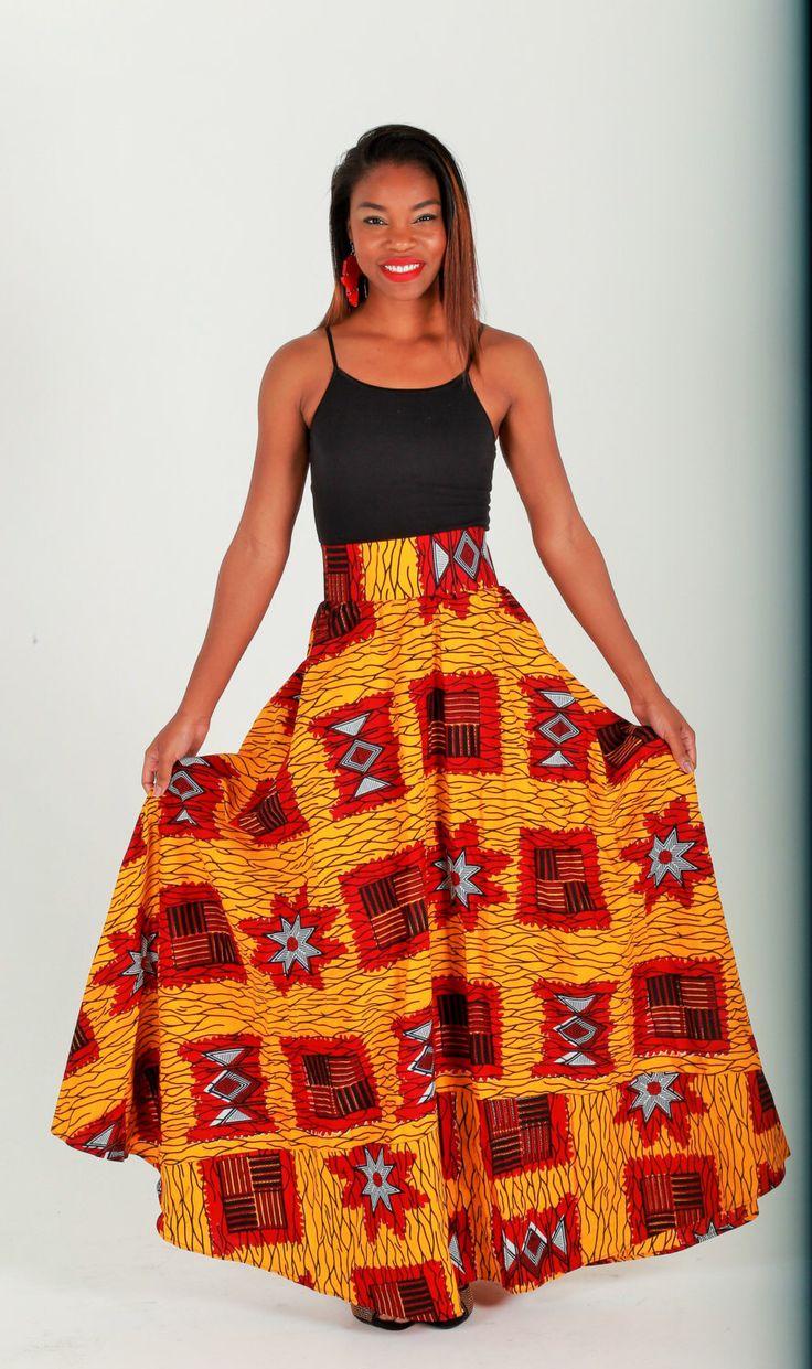African Maxi Skirt, Orange African Ankara Print Maxi Skirt -Romantic Maxi Skirt Long cotton Skirt- Maxi Skirt By Zabba Designs by ZabbaDesigns on Etsy https://www.etsy.com/listing/182499980/african-maxi-skirt-orange-african-ankara