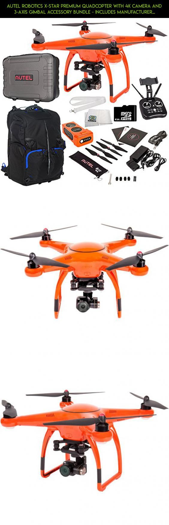 Autel Robotics X-Star Premium Quadcopter with 4K Camera and 3-Axis Gimbal Accessory Bundle - Includes Manufacturer Accessories + 64GB Micro SD Card + Drone Backpack + MORE #gadgets #camera #plans #technology #x-star #parts #robotics #fpv #autel #kit #shopping #products #tech #premium #racing #drone
