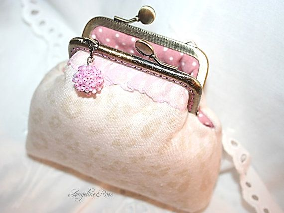 animal printed coin purse, animal printed clutch, pink polka dot inside, unique purse, angeline rose purse, gift for women, beautiful purse