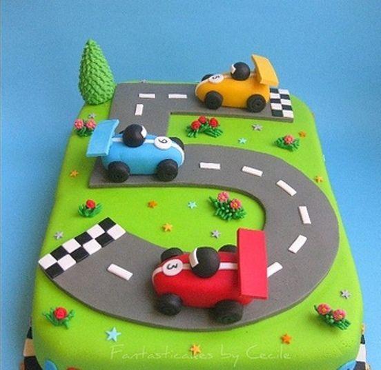 """57 Детский торт """"Гонки"""""""