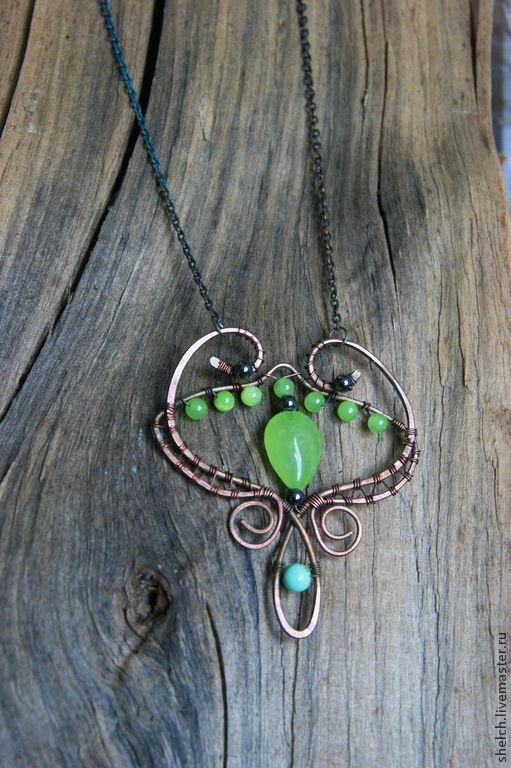 Купить тиара Эльфийская из меди и натуральных камней (фэнтези украшения) - украшение эльфийское, эльфы