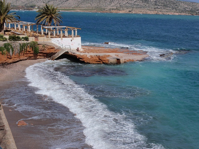 A popular swimming spot in Βάρκιζα - #Varkiza #AthensCoast #Athens #Greece