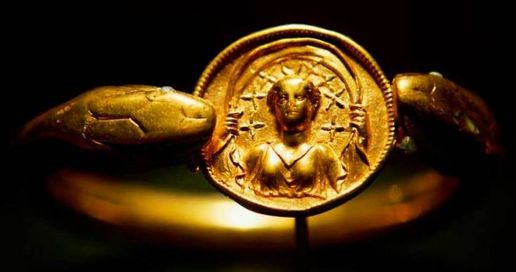 Pompeii moon goddess serpent bracelet. Solid gold, over 1lb in weight.