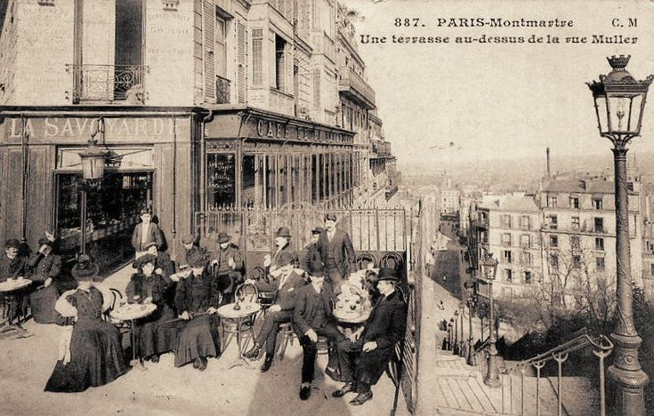 rue Muller - Paris 18e Toujours en haut des escaliers de la rue Muller... (carte postale - vers 1900)