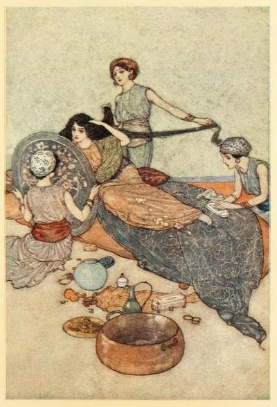Stories from the Arabian Nights, 1911  Illustrations by Edmund Dulac