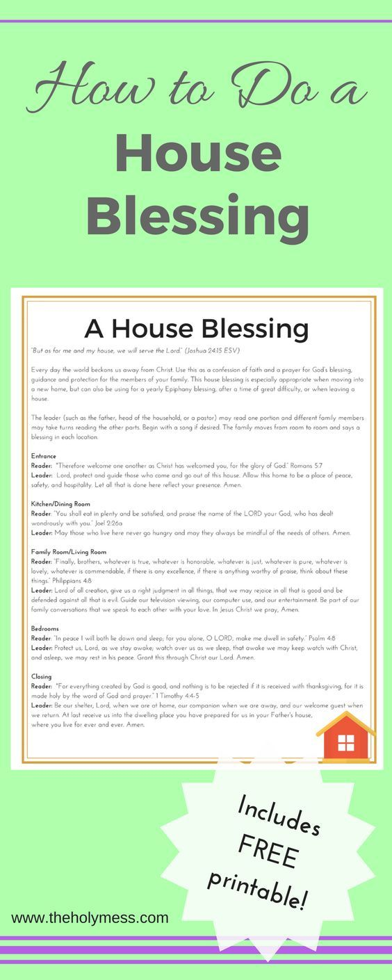 How to Do a House Blessing House Blessing New House New Baby Free Printable Directions Blessings Prayer