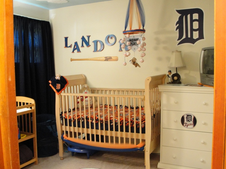 Detroit Tigers Baseball Themed Nursery