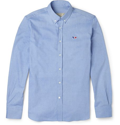 MAISON KITSUNÉ Slim-Fit Cotton Oxford Shirt. #maisonkitsuné #cloth #casual shirts