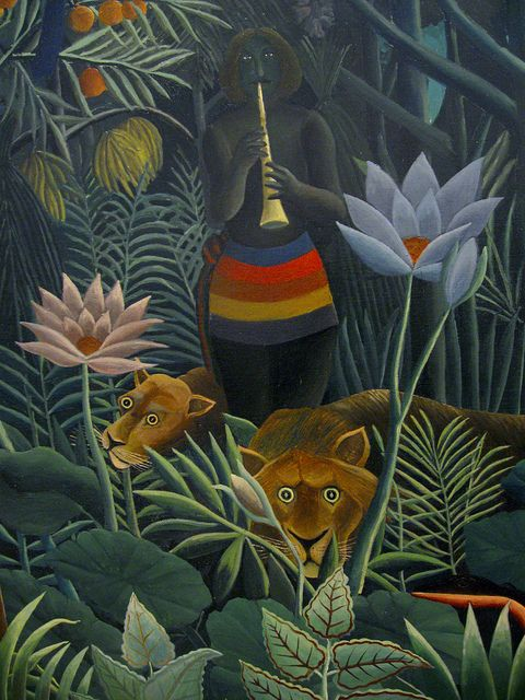 Henri Rousseau: Le rêve - The dream, detail (1910) | Flickr - Photo Sharing!