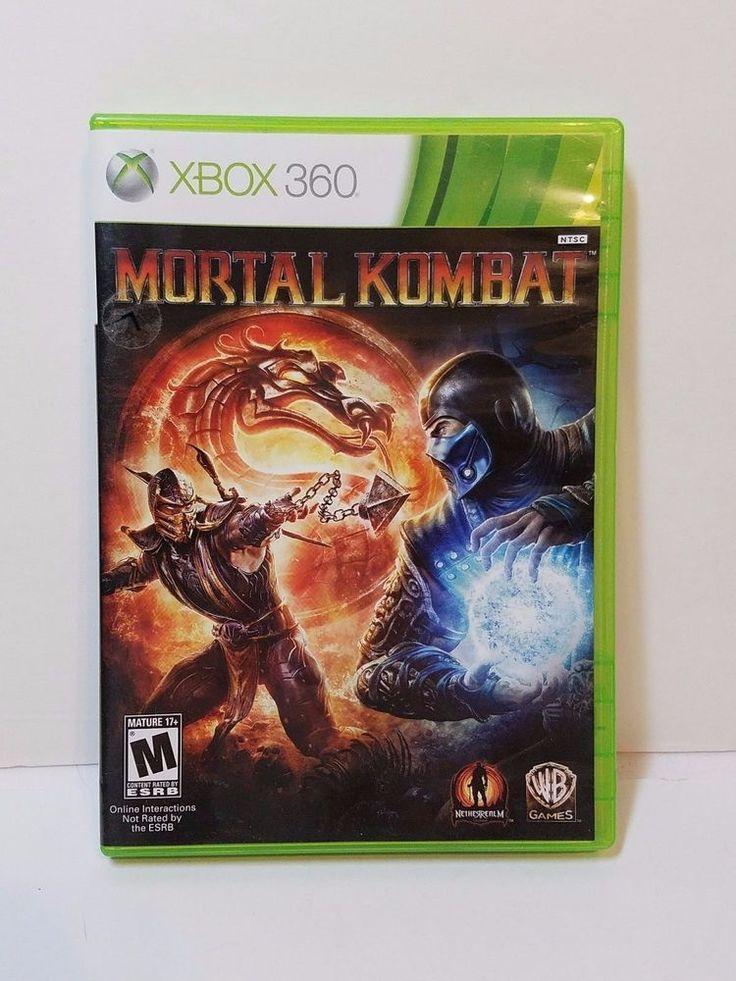 Microsoft Xbox 360 Mortal Kombat Combat Fighting Video Game Complete Original