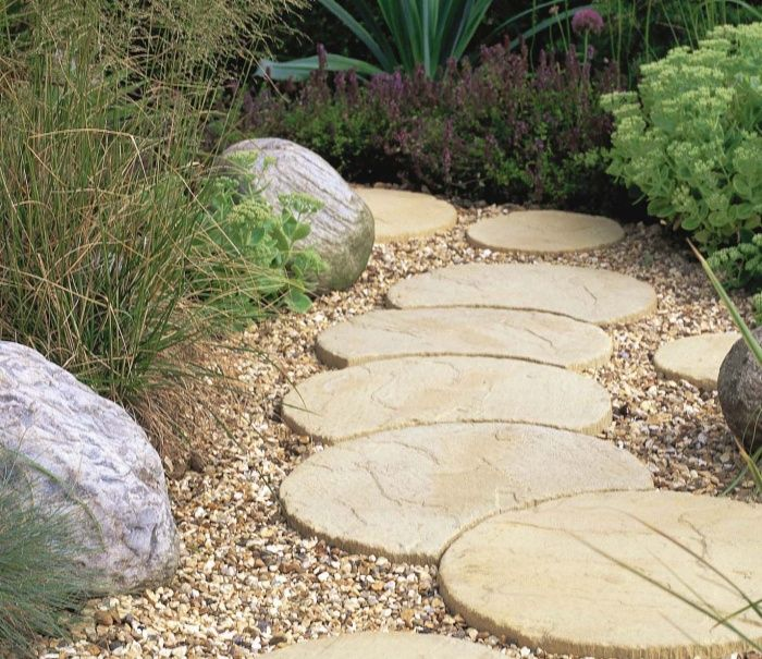 Natural Stone U0026 Coloured Concrete Garden Stepping Stones For Paths,  Decorative Features And Paving.