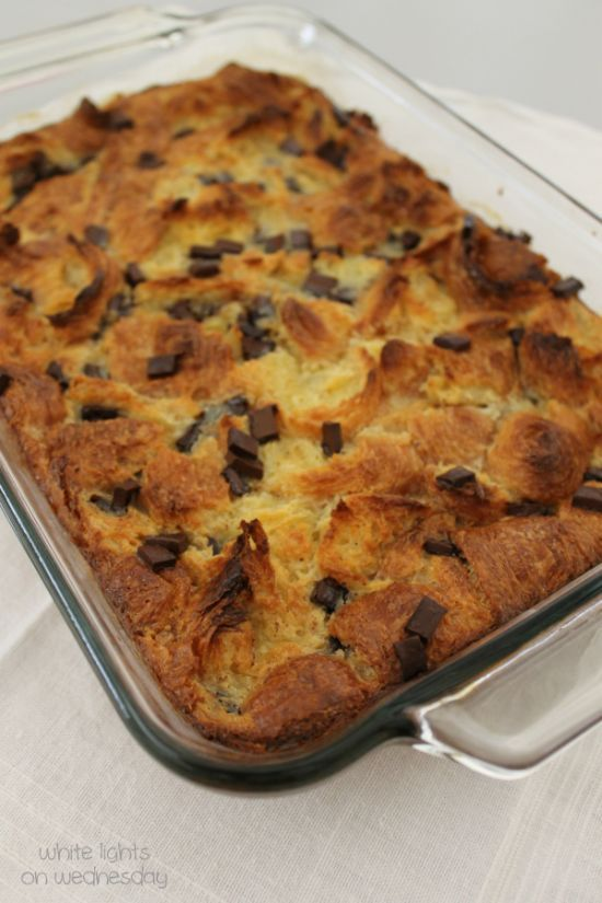 Croissant & Chocolate Bread Pudding 2