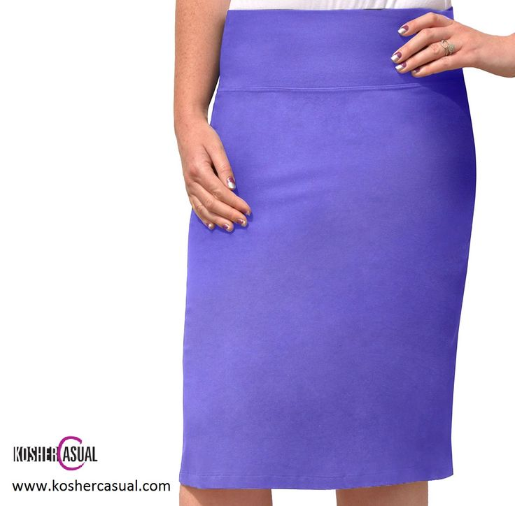 Modest Knee Length Cotton Rich Pencil Skirt. Extremely comfortable! Available in a wide range of colors. Price: $19 - Color: GRAPE