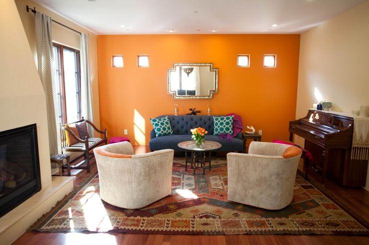 Great Grey And Orange Living Room Ideas Decorating Burnt