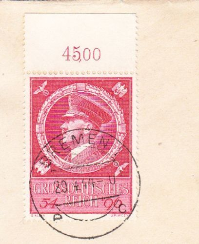 Germany-Hitler-Birthday-Date-Bremen-Registered-With-Tab-Selvage-Cover-2x