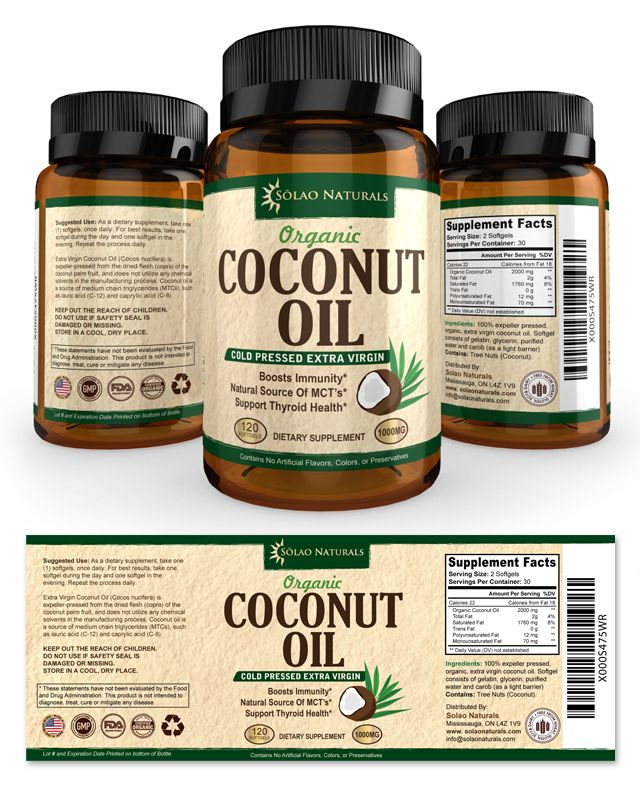 Virgin Coconut Oil Supplement Label Template Http://www